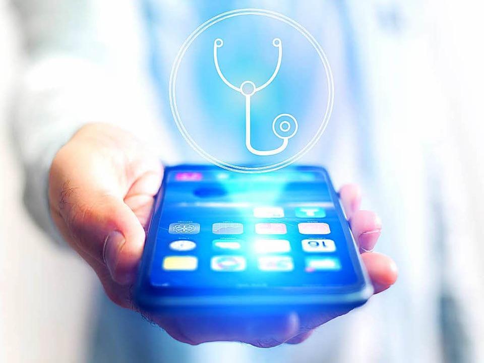 Könnte für Ärzte bald ein wichtiges Be... im Berufsalltag sein:  das Smartphone  | Foto: adobe.com