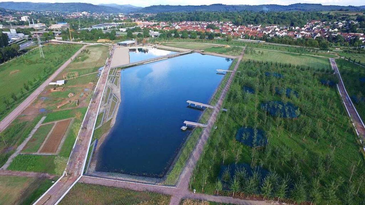 Der Landschaftssee der Landesgartensch...n Stegmatten, aufgenommen im September  | Foto: LGS GmbH