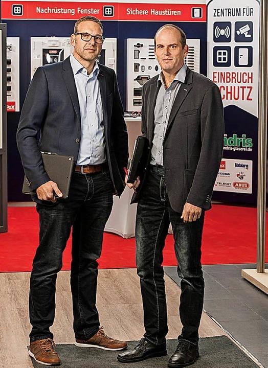 Sie stehen für ein sicheres Freiburg: Mathias Andris (li.)  und Ivo Czerulla     Foto: pax ag
