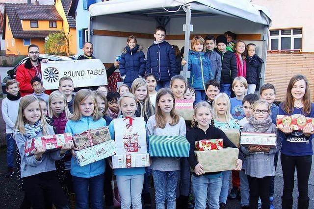 Weihnachtsgeschenke für Kinder in Osteuropa aus Lahr und Umgebung