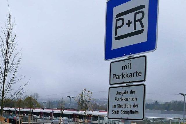 Parkkarten für neue P&R-Anlage gibt's nur im Stadtbüro