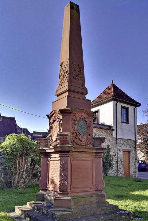 Das Denkmal am heutigen Standort    Foto: Wendel