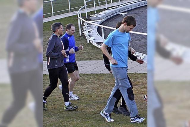 Läufer bei Wettkämpfen vorne dabei