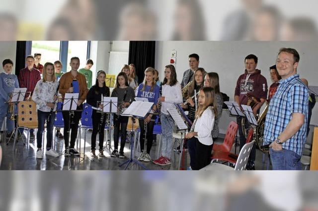 Jungmusik eröffnet das Jahreskonzert