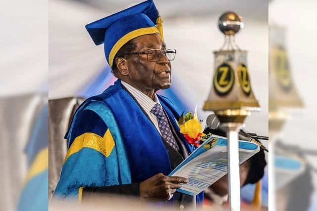 Robert Mugabe wieder aufgetaucht