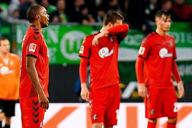 SC Freiburg verliert nach einer schwachen ersten Halbzeit in Wolfsburg mit 1:3