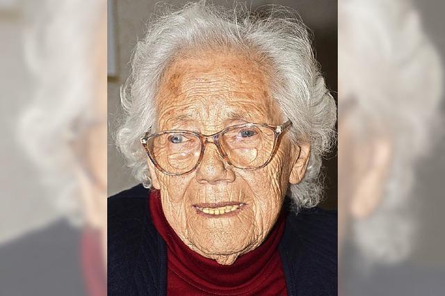 Martha Muth wird heute 90