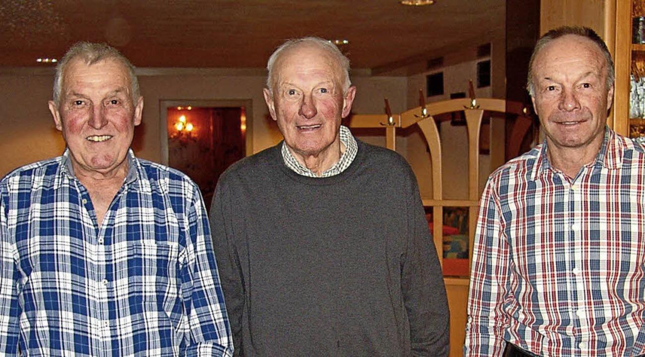 Sie sind treue Mitglieder des Skiclubs...enbach, Eugen Sigg und  Karl Hättich.   | Foto: Heinrich Fehrenbach