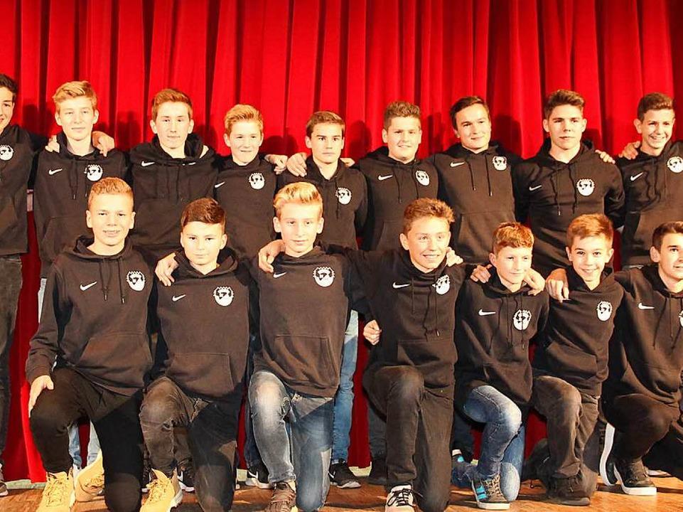 Mannschaft des Jahres 2017 wurde die C-Jugend des Sportvereins Hölzlebruck.  | Foto: Eva Korinth