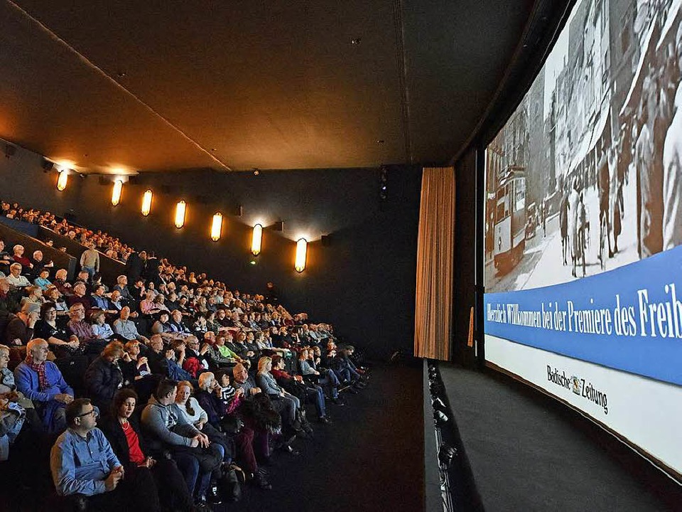 Riesiges Interesse am historischen Fre...nstaltung im Cinemaxx war ausverkauft.  | Foto: Michael Bamberger