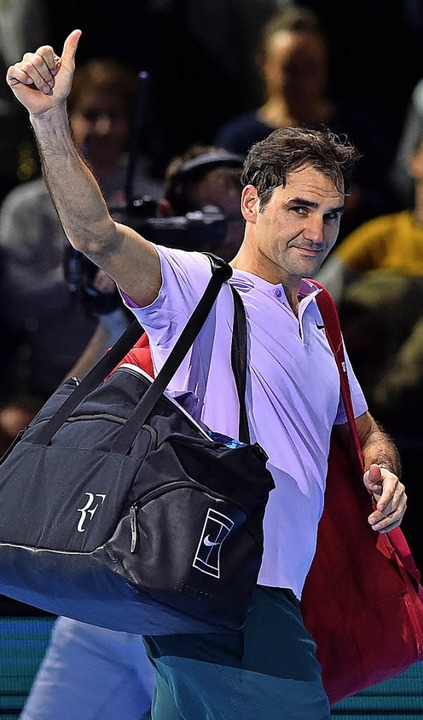 Verabschiedet sich in den Familienurlaub: Roger Federer  | Foto: AFP