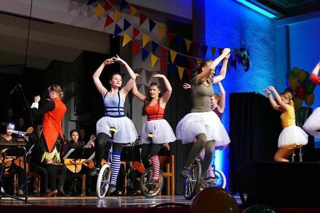 Eine fulminante Zirkusshow beim Mandolinenverein