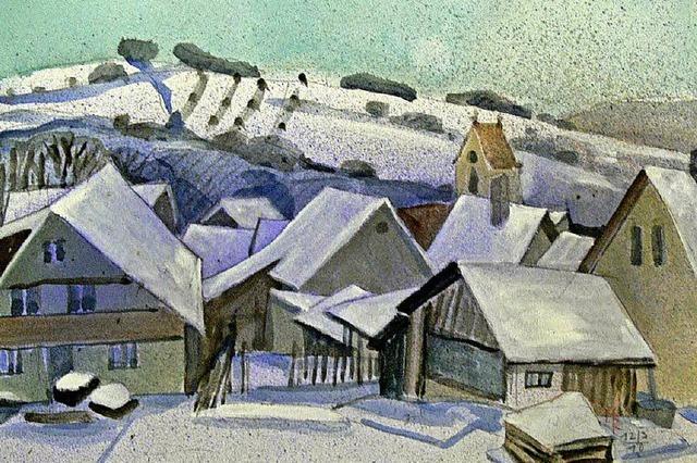Wintergemälde im Markgräfler Museum Müllheim