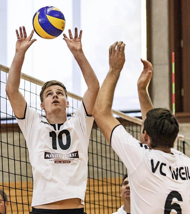 <BZ-FotoAnlauf>Volleyball: </BZ-FotoAn...es  in Litzelstetten nur einen Zähler.  | Foto: Steffen Meissner