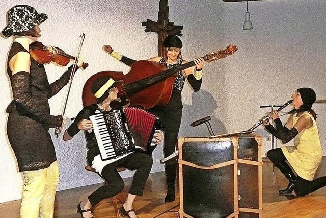 Das Quartett Olga B. glänzt in der Kapelle