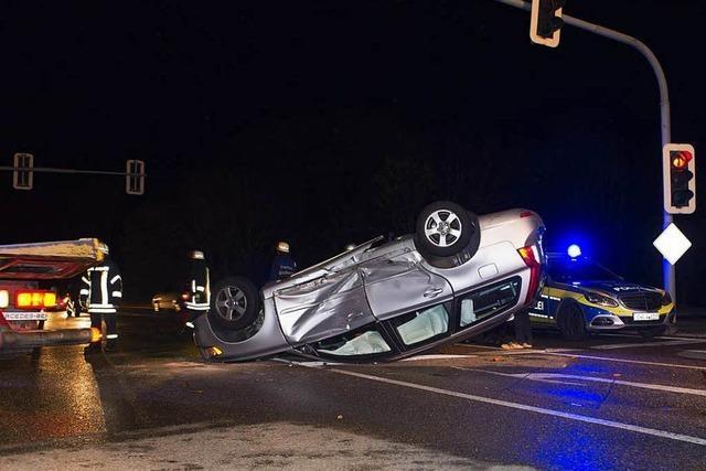 Schwerer Verkehrsunfall ging glimpflich aus
