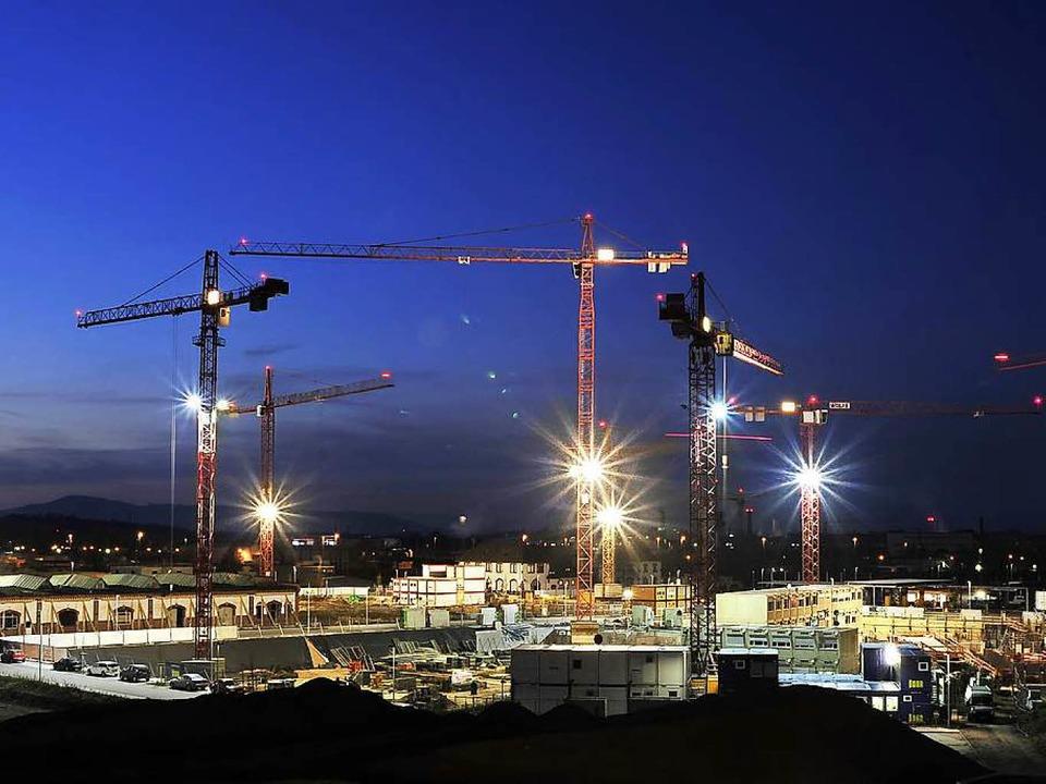 Eines der Freiburger Vorzeigeprojekte ist das Güterbahnhofgelände.  | Foto: Thomas Kunz