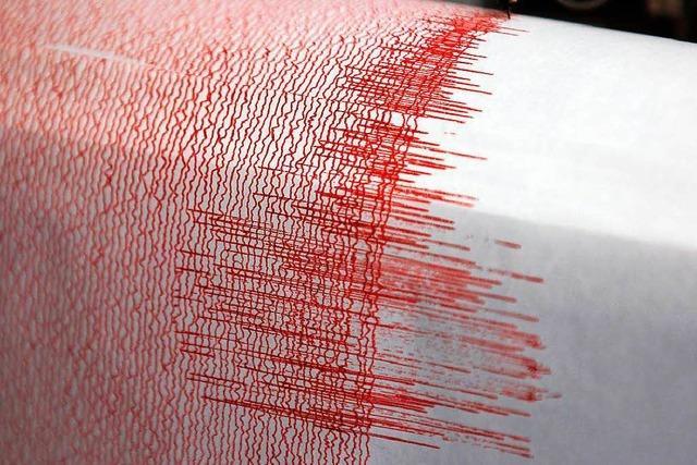 Rumpeln und Zittern wegen Erdbebens