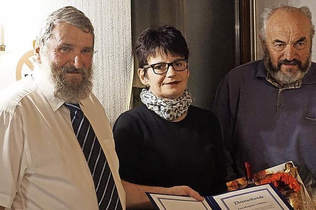 Margit Lechleiter nun Ehrenmitglied