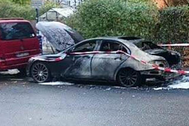 Mercedes von SC-Profi Georg Niedermeier brennt aus