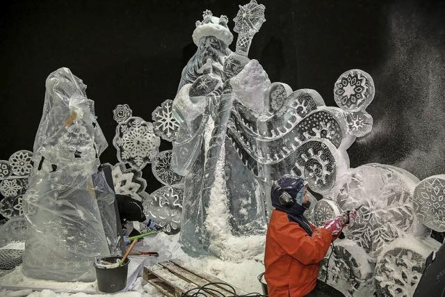 Frostige Kunst mitten in Spanien