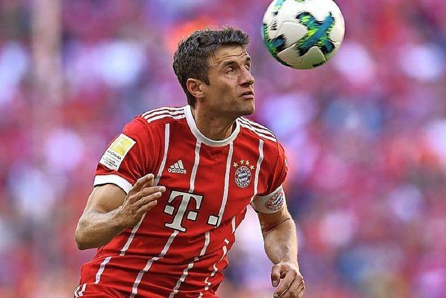 Gelöste Stimmung bei den Münchner Bayern