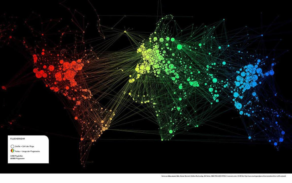 Der Nordatlantik ist die Drehscheibe d...rkehrs, Afrika spielt kaum eine Rolle.  | Foto: Dumont Verlag