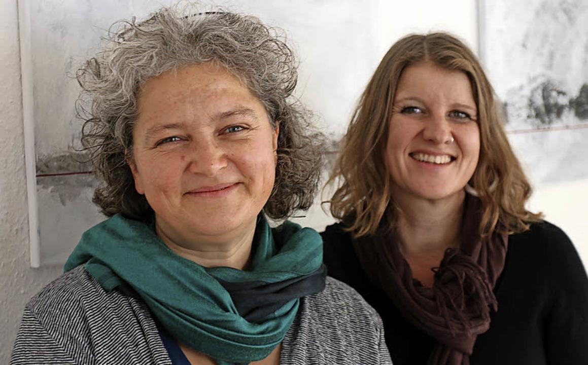Machen Gewalt gegen Frauen zum Thema: ...stelle  und Caro Throm vom Frauenhaus     Foto: Bartsch