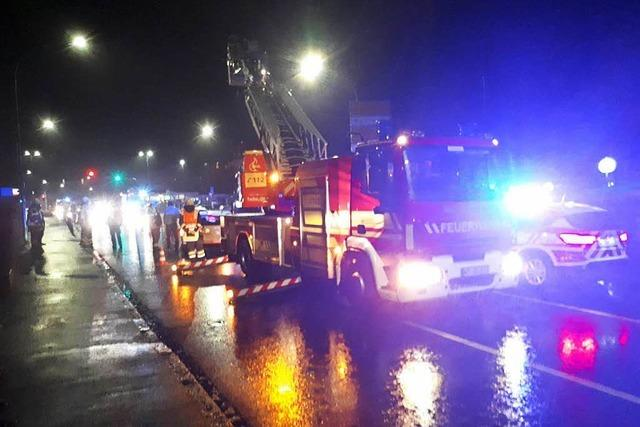 Unfall mit zwei Verletzten an der B 34 in Bad Säckingen
