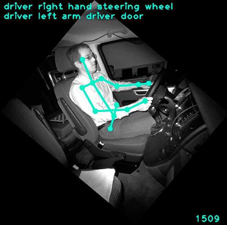 Der Körper des Autofahrers wird im Labor nur schematisch erfasst.  | Foto: -