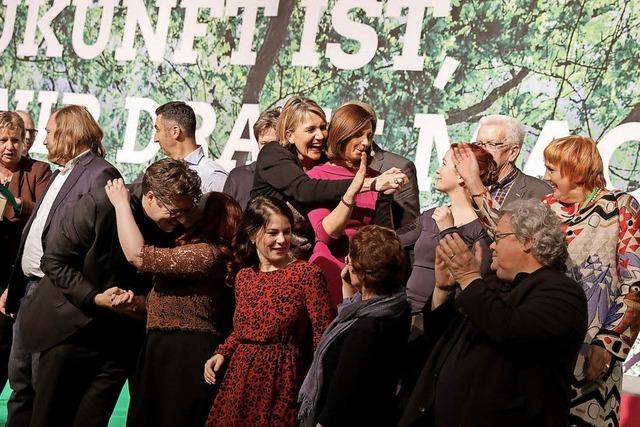 Die Grünen auf dem Parteitag mit Kampfansage an FDP