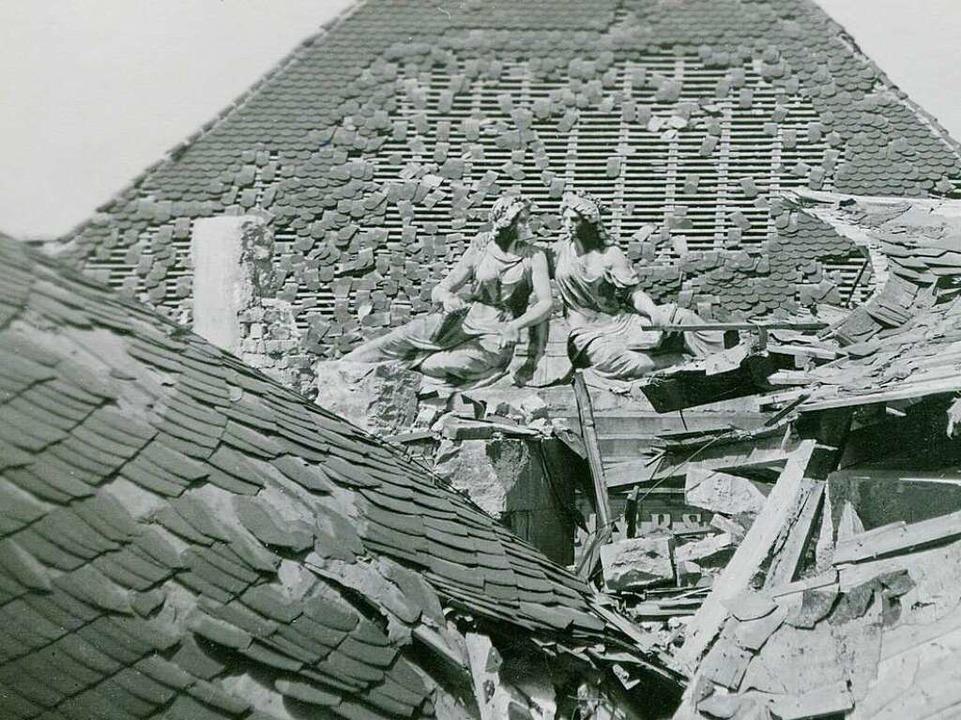 Auch das Rotteck-Gymnasium war zerstört.  | Foto: Archiv: Hans-Jürgen Oehler