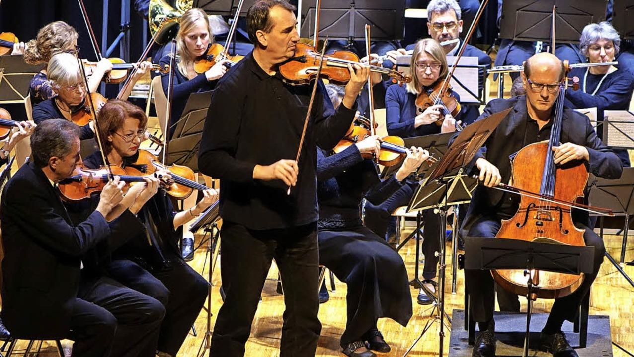 Das Oberrheinische Sinfonieorchester L...ation des  Doppelkonzerts von Brahms.   | Foto: Roswitha Frey