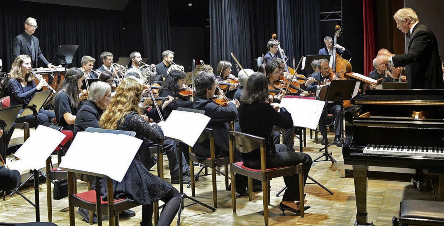 Frank Leenen dirigierte das Sinfonisch...r Hochschwarzwald beim Herbstkonzert.   | Foto: Daniela Evers