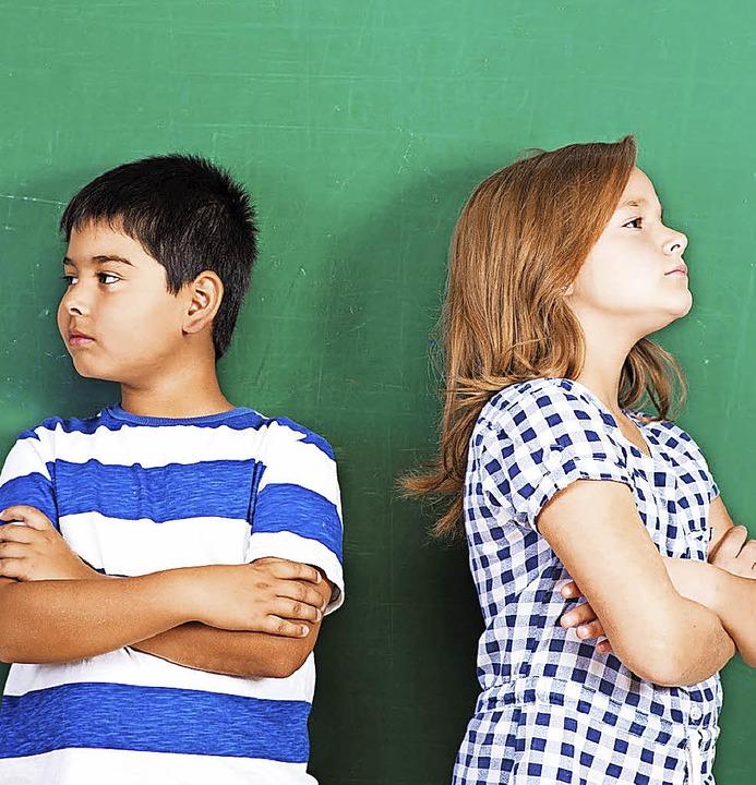 Wenn es Konflikte gibt in der Klasse o... Schulsozialarbeit helfend eingreifen.  | Foto: Symbolfoto: Fotolia.com(flia)