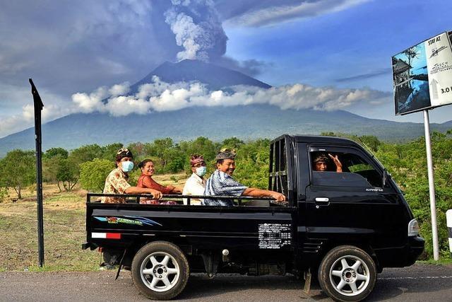 Vulkan Mount Agung steht kurz vor dem Ausbruch