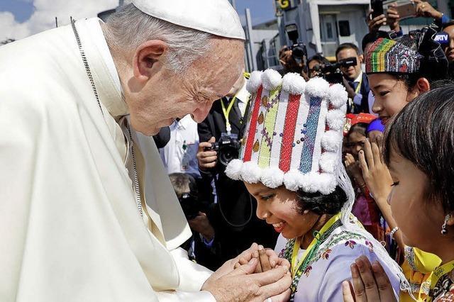 Der Papst besucht Myanmar