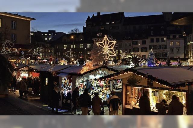 Basler Weihnachtsmarkt mit Schlittschuhbahn und großem Begleitprogramm