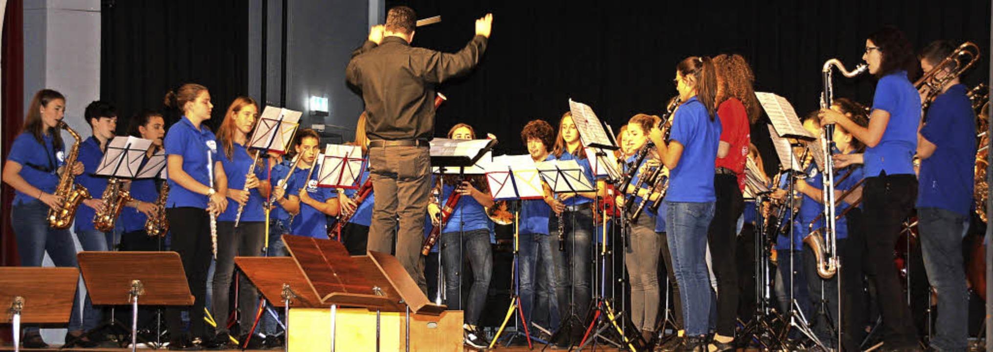 Virtuose Blasmusik bot das Bläserfesti...Mitwirkung der Endinger Jugendkapelle.  | Foto: Christiane Franz