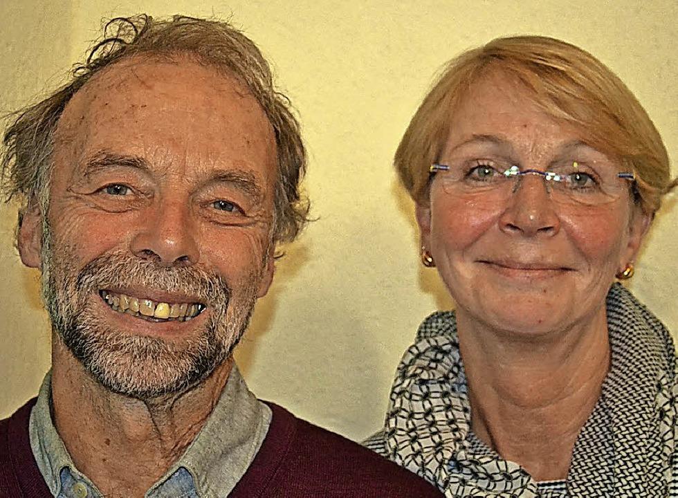 Helmut Büchele und Therese Wolf haben ...Jahren die Motoren für den Dorfladen.   | Foto: Liane Schilling