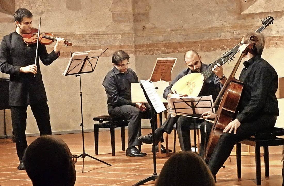Begeisterte mit virtuos dargebotener B...mble beim Konzert in der Martinskirche    Foto: Bianca Flier