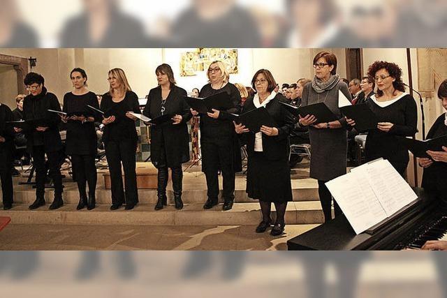 Glocken und Gesang