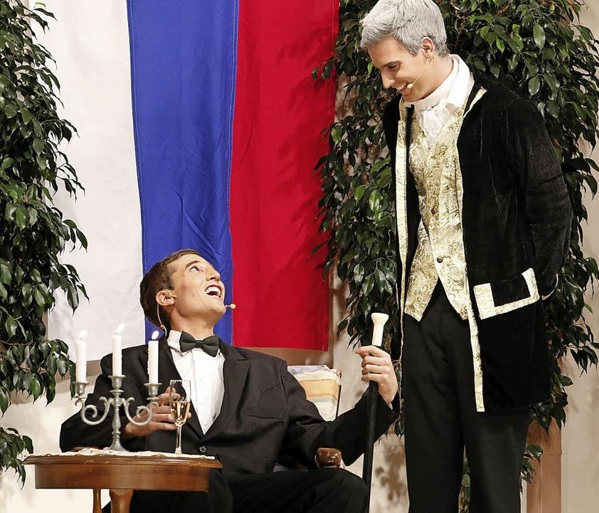 """Auf Operettenvergnügen dürfen sich wie... bei """"Die lustige Witwe"""".     Foto: Heidi Fössel"""