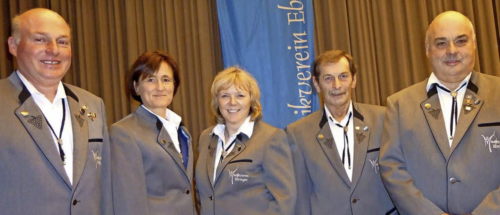 Für langjährige Mitgliedschaft geehrt ..., Gerold Franz und Wolfgang Zähringer   | Foto: Anne Freyer