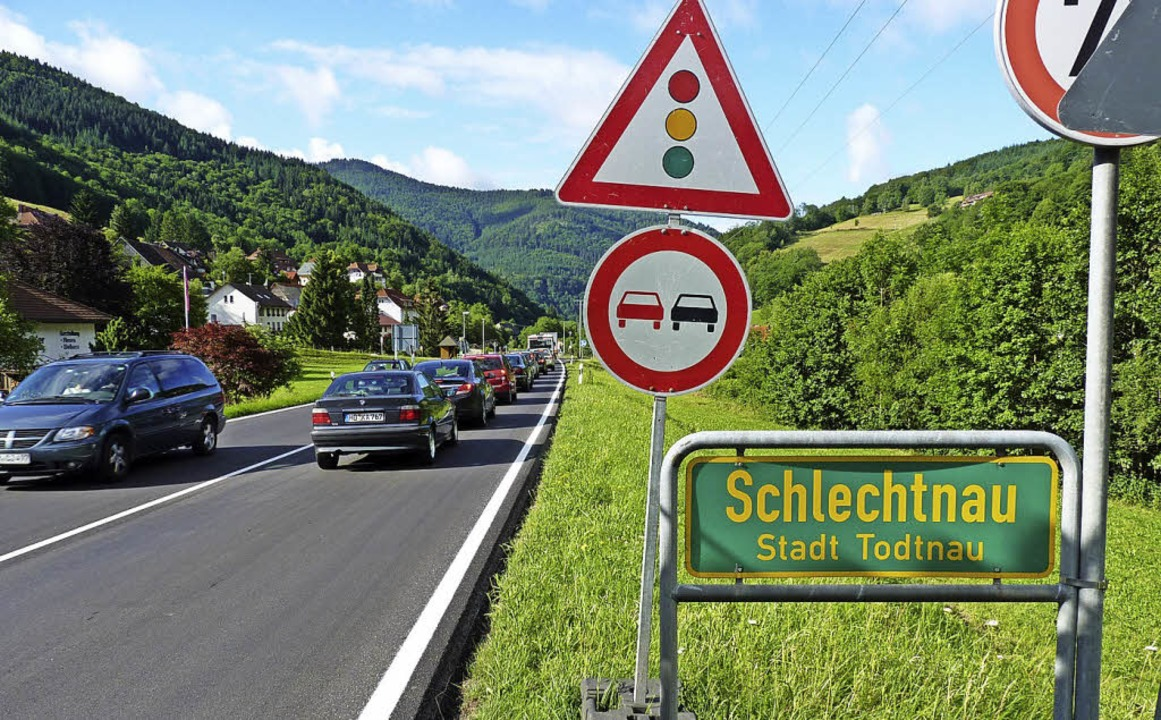 Der Bau einer neuen Abbiegespur nach Schlechtnau ist für das Jahr 2019 geplant.   | Foto: Dirk Sattelberger