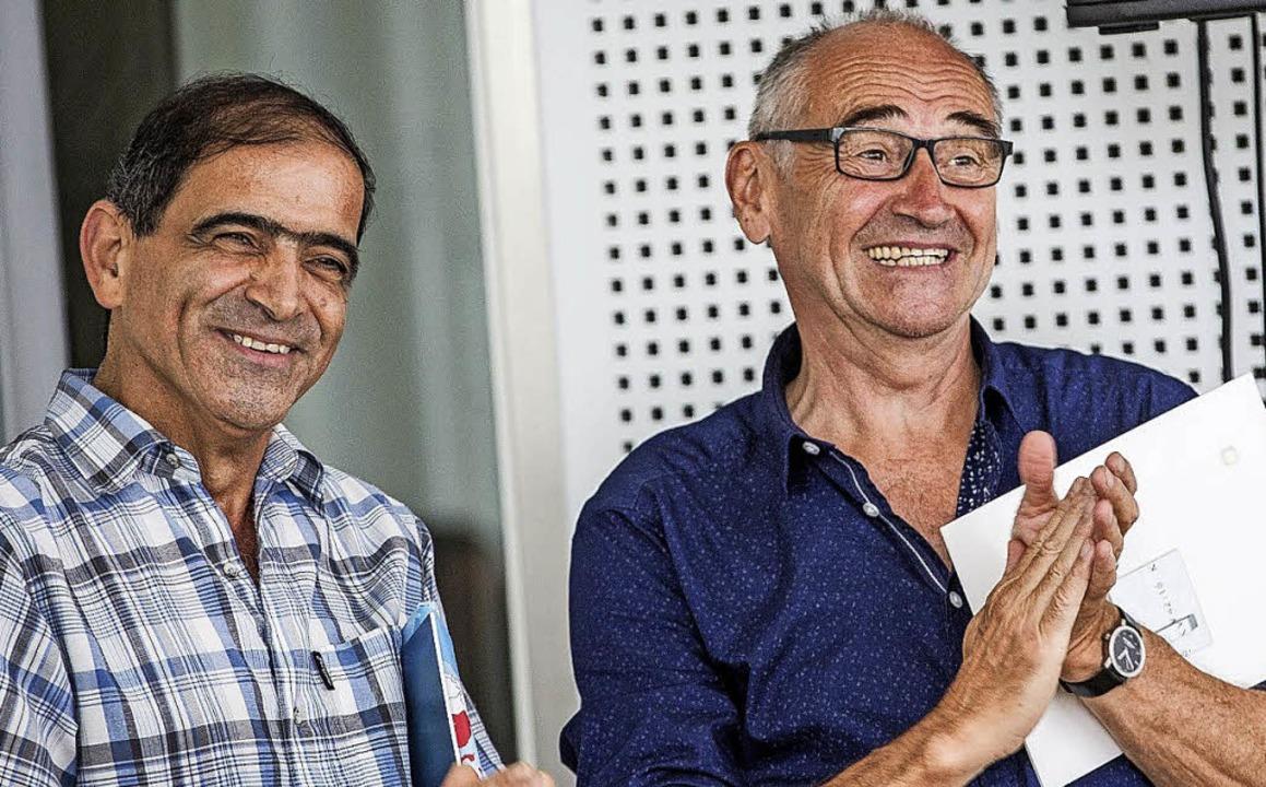Mohammed Jabur und Heinzl Spagl (von links)  | Foto: Brit Schilling