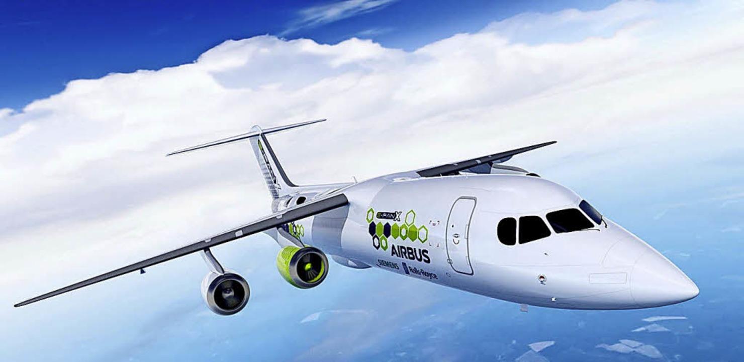 So könnte  das neuartige Flugzeug aussehen.    Foto: dpa