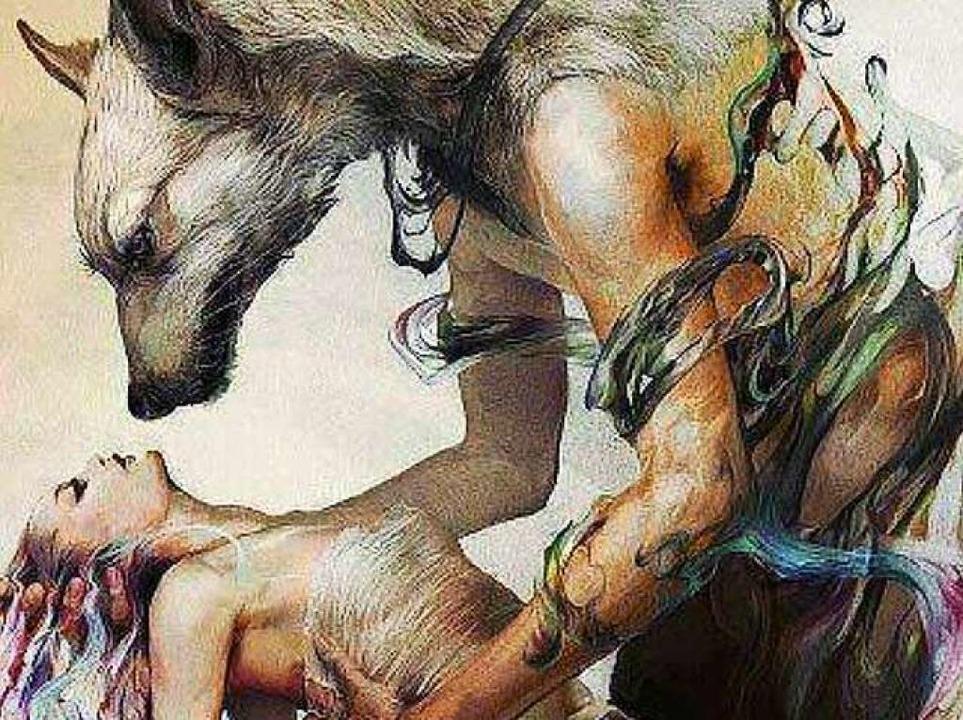 Eine Werwolf-Illustration von K.s Face...anischen Rockband L'arc en Ciel.  | Foto: Screenshot BZ