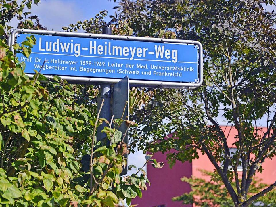 Der Ludwig-Heilmeyer-Weg wird künftig ...t seinen Lehrstuhl in Freiburg verlor.  | Foto: Michael Bamberger