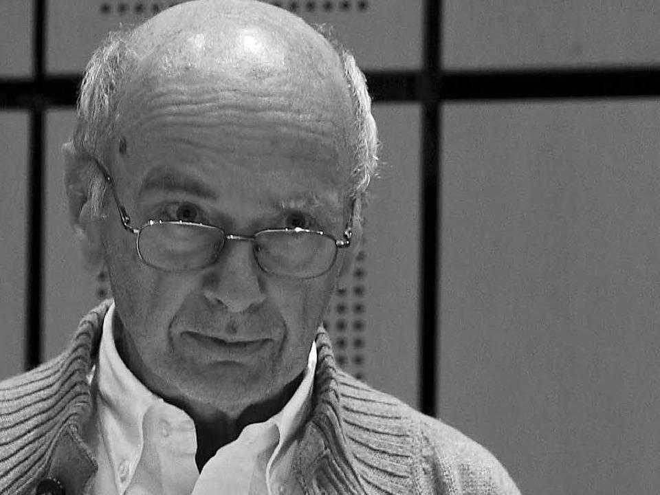 Baldo Blinkert st plötzlich und unerwartet im Alter von 75 Jahren gestorben.  | Foto: Pflegebudget Presse- und Öffentlichkeitsarbeit